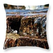 Sliding Water Throw Pillow