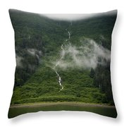 Slim Waterfall From The Haze Throw Pillow