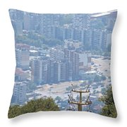 Sliven Bulgaria From Chair Lift Throw Pillow
