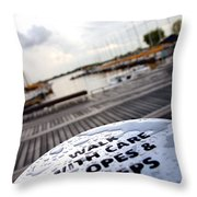 Slopes And Steps Throw Pillow