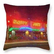 Sloppy Joes Throw Pillow