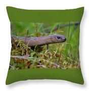 Slowworm Throw Pillow