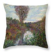 Small Branch Of The Seine Throw Pillow