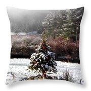 Small Christmas Tree Filtered Throw Pillow