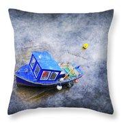 Small Fisherman Boat Throw Pillow by Svetlana Sewell