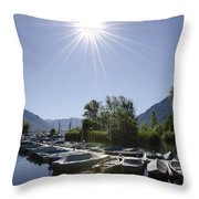 Small Harbor Throw Pillow