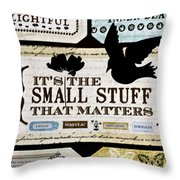 Small Stuff Throw Pillow