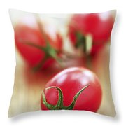 Small Tomatoes Throw Pillow by Elena Elisseeva