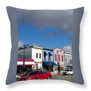 Small Town Usa Throw Pillow
