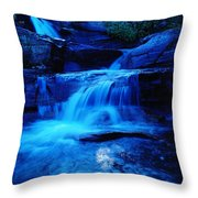 Small Waterfall Going Into Spirit Lake  Throw Pillow