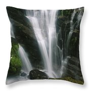 Small Waterfall Near The Milford Track Throw Pillow