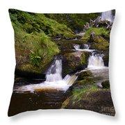 Small Waterfalls Throw Pillow