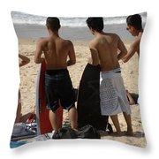 Smile Boys Bondi Beach Australia Throw Pillow