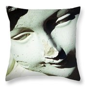 Smile On Her Face Throw Pillow