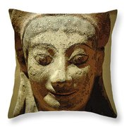 Smiling Goddess Throw Pillow
