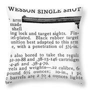 Smith & Wesson Pistol Throw Pillow