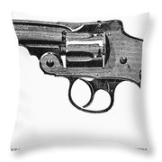 Smith & Wesson Revolver Throw Pillow