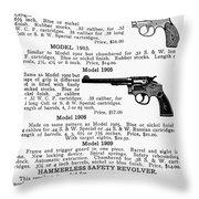 Smith & Wesson Revolvers Throw Pillow