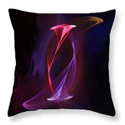 Smoke Dance Throw Pillow