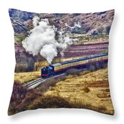 Smoke In The Valley Throw Pillow