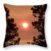 Smoke Screen Throw Pillow