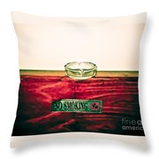 Smoking Mixed Messages Throw Pillow