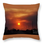Smoky Sun2 Throw Pillow