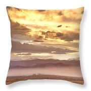 Smoky Sunset Over Boulder Colorado  Throw Pillow