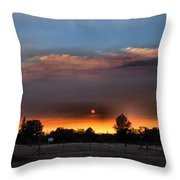 Smoky Sunset Wide Angle 08 27 12 Throw Pillow