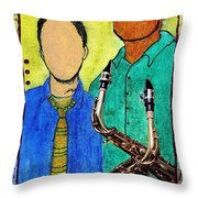 Smooth Jazz Throw Pillow