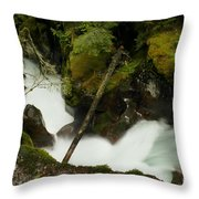 Smoothing The Rocks Throw Pillow