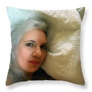 Smudged Lipstick II Throw Pillow
