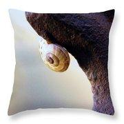 Snail On Iron Throw Pillow