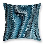 Snake Abstract Throw Pillow