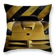 Snake Crossing Throw Pillow