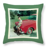 Snapshot From 1950s Throw Pillow
