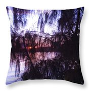 Sneaking Behind The Trees Throw Pillow