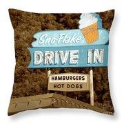 Sno-flake Drive In Lake Tahoe Throw Pillow