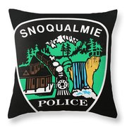 Snoqualmie Police Throw Pillow
