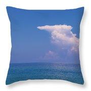 Snorkeler In Paradise Throw Pillow