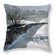 Snow Above Barbondale - Barbon Throw Pillow
