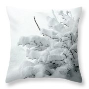 Snow Abstract 2 Throw Pillow