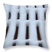 Snow Abstract 4 Throw Pillow