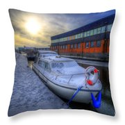 Snow Boat 1.0 Throw Pillow