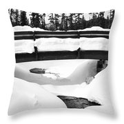 Snow Bridge In Canadian Rockies Throw Pillow