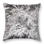 Snow Bush Throw Pillow