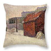 Snow Butte Montmartre Throw Pillow by Paul Signac