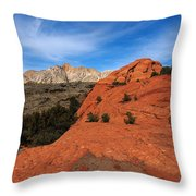 Snow Canyon 1 Throw Pillow