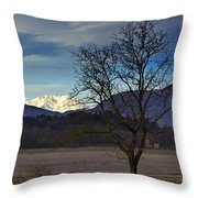 Snow-capped Monte Rosa Throw Pillow