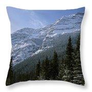 Snow Capped Mountain Throw Pillow